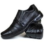 Sapato Social Free Shoes Confort em Couro Preto 765rp