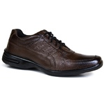 Sapato Social Free Shoes em Couro café 601 FRC