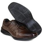 Sapato Social Free Shoes em Couro café 601rp