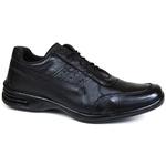 Sapato Social Free Shoes em Couro Floater Preto 601-FRC/RP