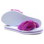 Chinelo Feminino Mouser pelúcia lilás 2