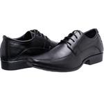 Sapato Social de Cadarço Masculino Coronello Preto - 1117 Copia