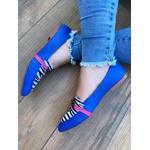 Sapatilha Social Azul/Zebra com Corrente
