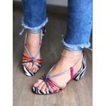 Sandália Bloco Color Zebra