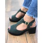 Sandalia Verde com Solado Tratorado