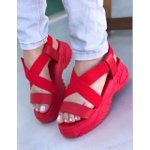 Sandália Papete Vermelha