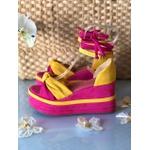 Anabela Rosa e Amarelo com Camadas