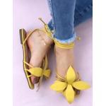 Rasteira Amarelo Flor