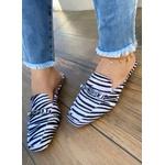 Mulle Bico Quadrado Zebra com Fivela