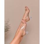 Salto Cristal Baixo Nude