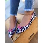Sapatilha Zebra com Rosa