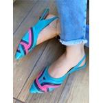 Sapatilha Azul com Tiras Color