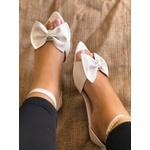 Sandália Branca com Laço
