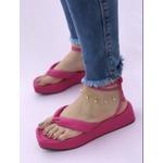 Flatform Pink Fluffy Tiras