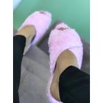Rasteira Pantufa Rosa em X