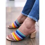 Sandália Tiras Color