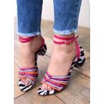 Sandália Tiras Coloridas / Zebra