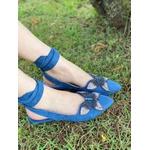 Sapatilha Borboleta Pedraria Azul