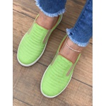 Slip On Verde Básico Linhas