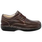 Sapato Masculino conforto Couro Brown 16000