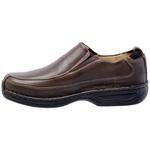 Sapato Masculino Linha Conforto Couro Brown 16030