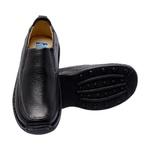 Sapato Masculino Linha Conforto Couro Preto 16030