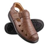 Sandália Masculina Linha Conforto Couro Chocolate 658