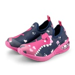 Tênis Infantil Bibi Space Wave 2.0 Feminino 1132082 Pink com Estampa Dinossauro 1064