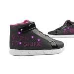 Tênis Sneaker Infantil Pampili Com Led 165132 Preto Born to Shine 1191
