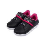 Tênis de Led Infantil Sneaker Luz Only Girl Pampili 165145 Preto com Pink 1193