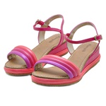Sandália Infantil Pampili Sami Color Block 533007 Pink e Laranja 388