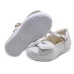 Sapato Bebê Pampili Angel com Laço Pérolas e Strass 4917 Branco 392