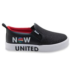 Tênis Infantil Feminino Slip On Luna Now United Original By Pampili 435191 Preto 735