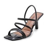 Sandália feminina Dakota Tiras z7131 Preta 1028