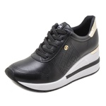 Tênis Feminino Dad Sneakers Via Marte 211203 Preto 1301