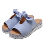 Sandália Laço Flat Form Vizzano 6388411 Jeans 1055