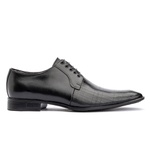 Sapato social de amarrar com estampa solado em borracha bigi 306-17 preto 1224