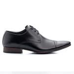 Sapato Social Masculino em Couro De Amarrar bigi 307 preto 1241