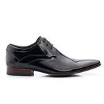 Sapato Social Masculino De Amarrar Solado De Couro bigi 379 preto verniz 1250
