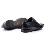 Sapato Masculino De Amarrar Oxford Clássico Solado De Couro bigi 516 preto 1275