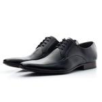 Sapato Masculino De Amarrar Solado Em Couro bigi300 Preto