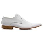 Sapato Masculino De Amarrar Solado Em Couro Branco bigi307