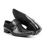 Sapato Masculino De Amarrar Solado Em Couro bigi307 Preto