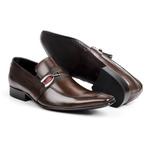 Sapato Masculino Solado De Couro bigi312 marrom