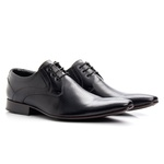 Sapato Masculino Solado De Couro Preto Microfuros bigi379