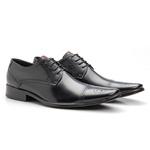 Sapato Social Masculino em Couro bigi658 Preto
