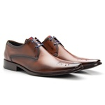 Sapato Social Masculino em Couro bigi659 Laranja