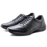 Sapato Masculino em Couro Pipper 53104pc Preto 325