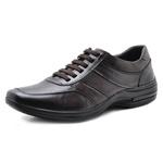 Sapato Masculino em Couro Pipper 53104 Café 326