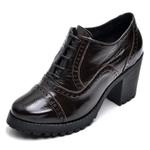 Ankle boot feminino qea menina brasil 19000 verniz cafÉ